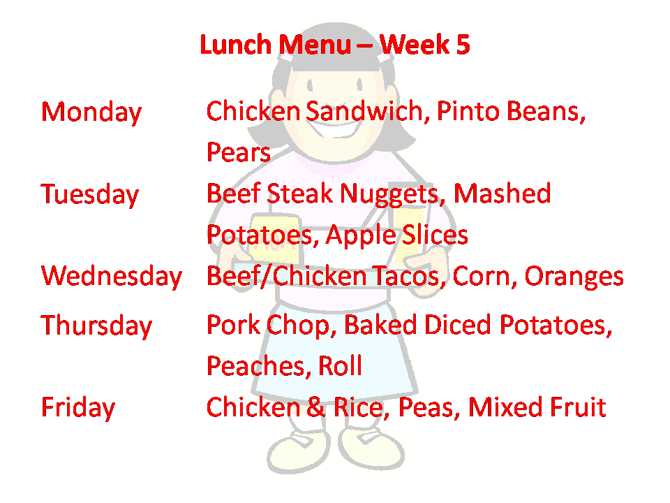Lunch Week 5