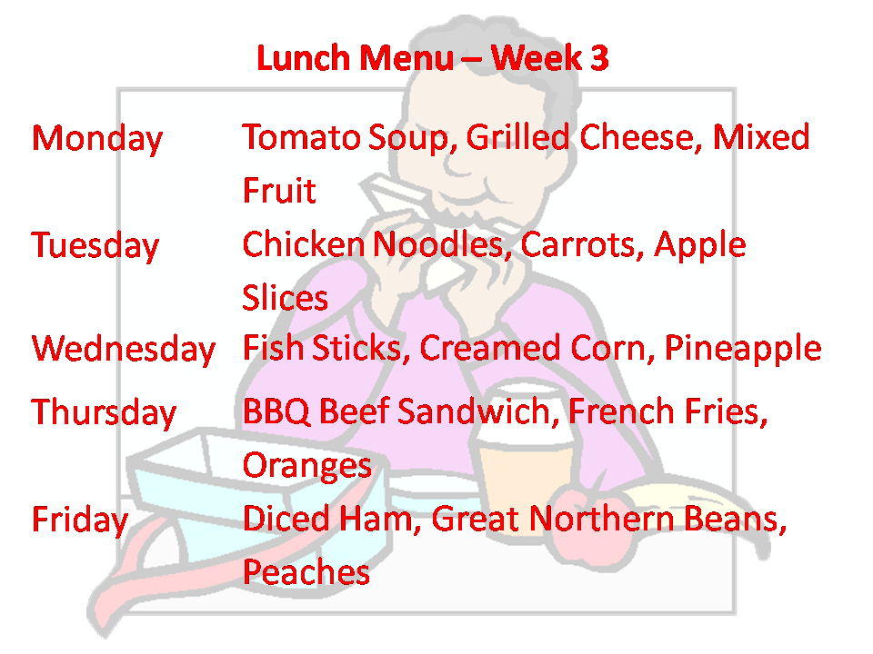 Lunch Week 3