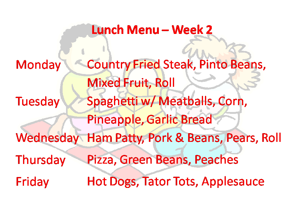 Lunch Week 2