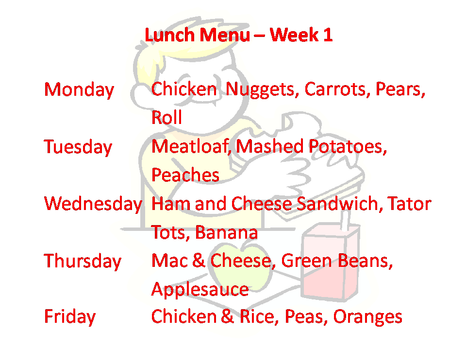 Lunch Week 1