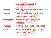 Lunch Week 4